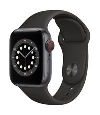 APPLE AW Series 6 GPS Cell 40mm Space Gray Alu Case Blk Sport Band