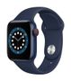 APPLE AW Series 6 GPS Cell 40mm Blue Alu Case Deep Navy Sport Band