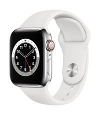 APPLE EOL AW Series 6 GPS Cell 40mm Silver St Steel Case Wh Sport