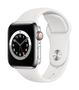 APPLE AW Series 6 GPS Cell 40mm Silver St Steel Case Wh Sport Band