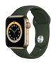 APPLE AW Series 6 GPS Cell 40mm Gold St Steel Case Cyp Green Sport
