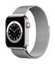 APPLE AW Series 6 GPS Cell 44mm Silver St Steel Case Silv Milanese