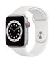 APPLE AW Series 6 GPS Cell 44mm Silver Alu Case White Sport Band
