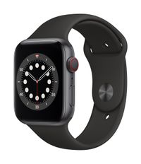 APPLE AW Series 6 GPS Cell 44mm Sp Grey Alu Case Black Sport Band