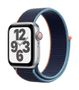 APPLE AW SE GPS Cell 40mm Silver Alu Case Deep Navy Sport Loop