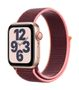 APPLE AW SE GPS Cell 40mm Gold Alu Case Plum Sport Loop
