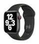 APPLE AW SE GPS Cell 40mm Space Gray Alu Case Black Sport Band