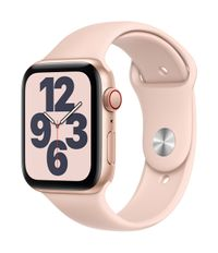 APPLE AW SE GPS Cell 44mm Gold Alu Case Pink Sand Sport Band