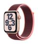 APPLE AW SE GPS Cell 44mm Gold Alu Case Plum Sport Loop