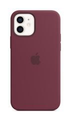 APPLE iPhone 12/12 Pro Silicone Case with Magsafe Plum