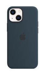 APPLE iPhone 13 mini Silicone Case with MagSafe Abyss Blue