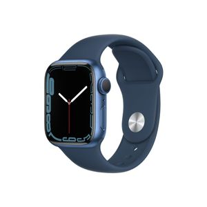 APPLE AW Series 7 GPS 41mm Blue Alu Case w/Abyss Blue SB (MKN13DH/A)
