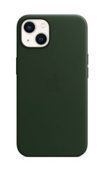 APPLE iPhone 13 Leather Case with MagSafe Sequoia Green
