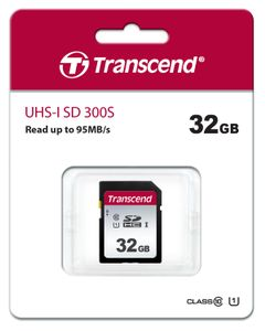TRANSCEND Memory card Transcend SDHC SDC300S 32GB CL10 UHS-I U1 Up to 95MB/S (TS32GSDC300S)