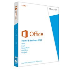 MICROSOFT Office Home and Business 2013 32-bit/ x64 Swedish 1 License Eurozone Medialess