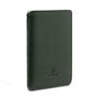 WOOLNUT LEATHER SLEEVE FOR PASSPORTS GREEN ACCS