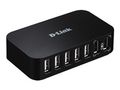 D-LINK 7xUSB2.0 7port USBHub 480Mbps PC MAC