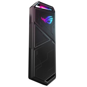 ASUS ROG Strix Arion M.2 NVMe SSD Enclosure USB3.2 GEN2 Type-C 10Gbps Aura Sync RGB USB-C to C Cable Thermal Pads (90DD02H0-M09010)