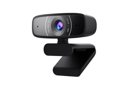 ASUS C3 USB FullHD Webcam with Wide Angle Lens, Beamforming Microphone (90YH0340-B2UA00)