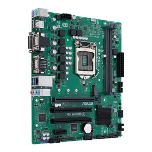 ASUS PRO H410M-C/ CSM LGA 1200 2x DDR4 mATX MB H410 business motherboard with enhanced security reliability and manageability (90MB1480-M0ECYC)