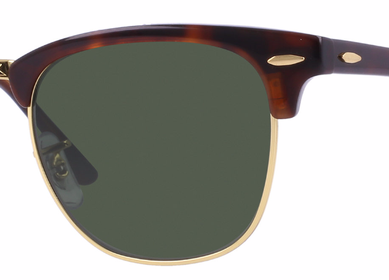 RAY-BAN Clubmaster Tortoise - Solbriller - Green (RB3016-W0366)