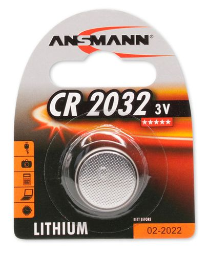 ANSMANN Lithium 1-pack CR2032 - Batteri (A5020122)