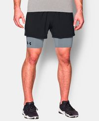 Under Armour 2-in-1 Trainer - Shorts - Svart (1271948-001)