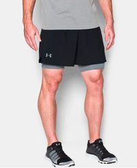 Under Armour Qualifier 2-in-1 - Shorts - Svart