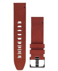 GARMIN QuickFit 22 Leather - Klockarmband - Brun (010-12496-05)