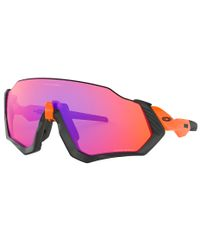 Oakley Flight Jacket Neon Orange - Sportglasögon - Prizm Trail