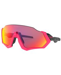 Oakley Flight Jacket Neon Pink - Sportglasögon - Prizm Road