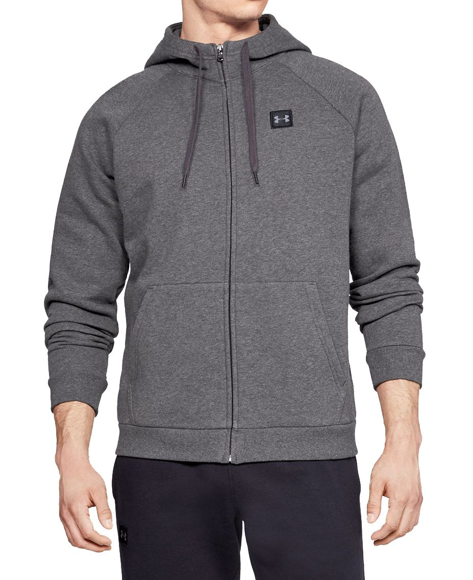 Under Armour Rival Fleece Full-Zip - Huvtröjor - Kol - M
