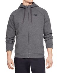 Under Armour Rival Fleece Full-Zip - Huvtröjor - Kol (1320737-020)