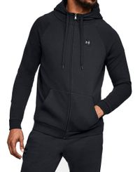Under Armour Rival Fleece Full-Zip - Huvtröjor - Svart (1320737-001)