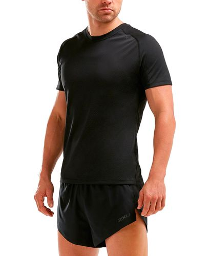 2XU GHST - T-shirt - Textured Mesh/ Charcoal (119157)