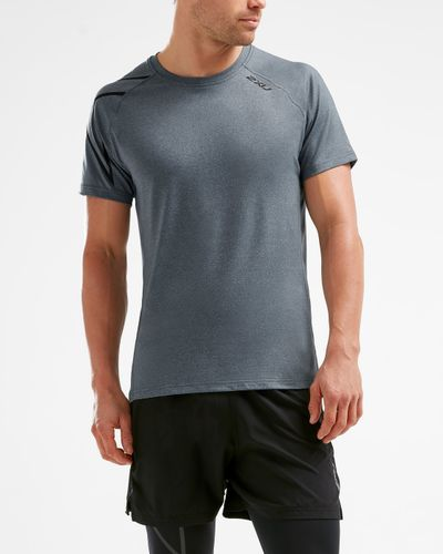 2XU XCTRL - T-shirt - Charcoal/ Black (11791)