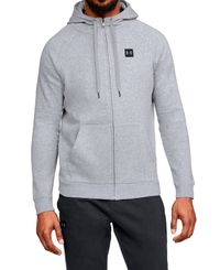 Under Armour Rival Fleece Full-Zip - Huvtröjor - Grå (1320737-036)