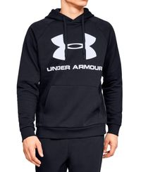 Under Armour Rival Fleece Logo - Huvtröjor - Svart (1345628-001)