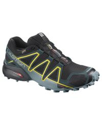 Salomon Speedcross 4 GTX - Sko - Black/ Reflecting Pond/ Spectra Yellow (L40786100)