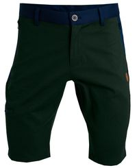 Tufte Wear Mens Leisure Shorts - Shorts - Deep Forest / Sky Captain (2102-010)