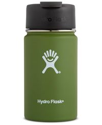 Hydro Flask 350ml Wide Mouth w/ Flip Lid - Kopp - Olivgrön (W12FP306)