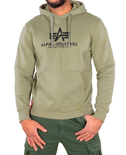 Alpha Industries Basic - Huvtröjor - Olivgrön (193178312-11-L)