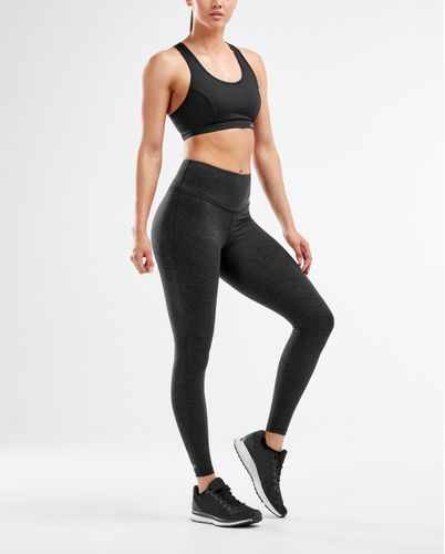 2XU Fitness Hi-Rise Comp Womens - Tights - Wave Spot Charcoal (WA5657b-L)