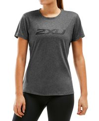 2XU XCTRL Womens - T-shirt - Charcoal Marle/ Black (WR5982a)