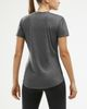 2XU XCTRL Womens - T-shirt - Charcoal Marle/ Black (WR5982a-XL)