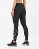 2XU Run Mid-Rise Dash Comp Women - Tights - Svart/ Sølv (WA5988b)