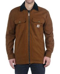 Carhartt Pawnee Zip - Skjorta - Oiled Walnut (104074213)