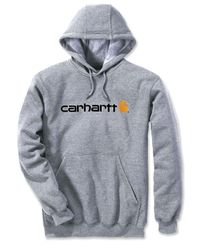 Carhartt Signature Logo - Huvtröjor - Heather Grey (100074034)