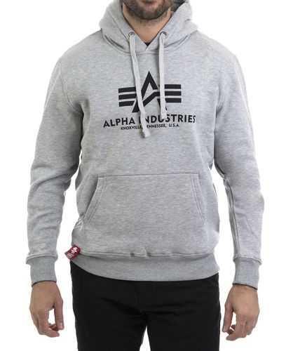 Alpha Industries Basic - Huvtröjor - Grå (193178312-17)