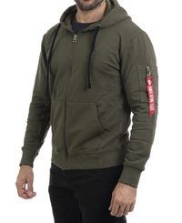 Alpha Industries X-Fit Zip - Huvtröjor - Dark green (193158322-257)